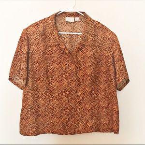 Vintage Liz Claiborne Silk Button Down Blouse